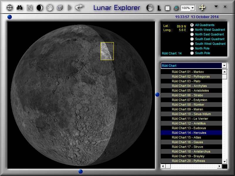 Rukl Chart Outline (e.g. Chart 14) in LunarPhase Pro