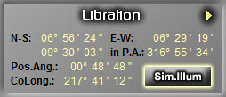 Lunar Libration information as provided by LunarPhase Pro